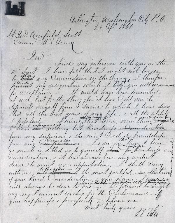 Robert E. Lee resignation letter